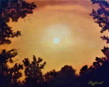 Golden sky by Ageliki, 30X24cm, oil on canvas