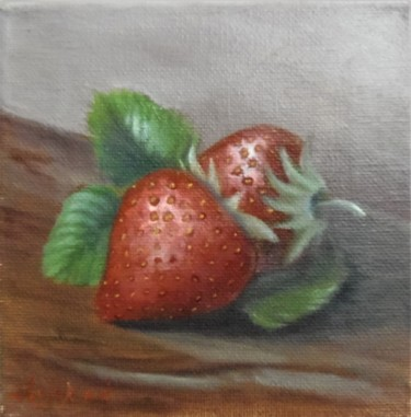 Red delicacies, 15X15cm, oil on streched canvas