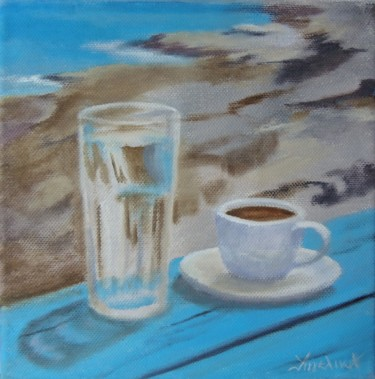 Greek morning! by Ageliki, 20X20cm, oil on canvas